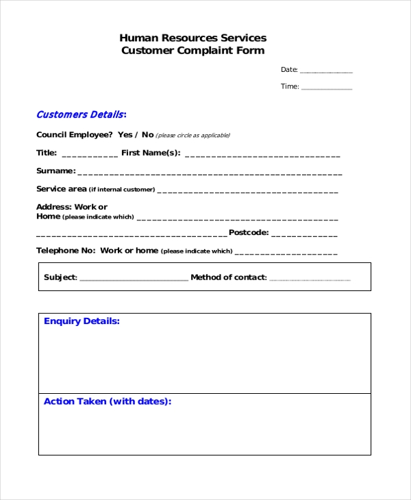 hr services feedback form