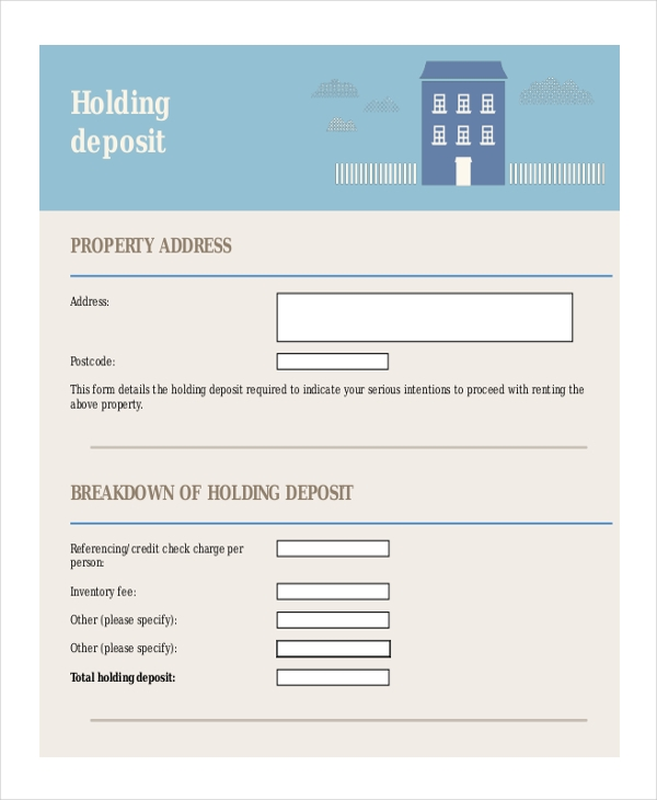holding deposit form1