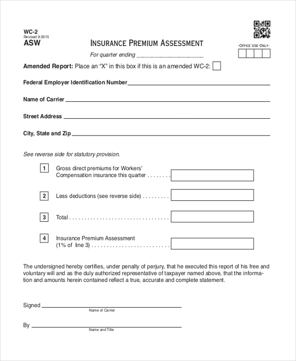 insurance premium assessment