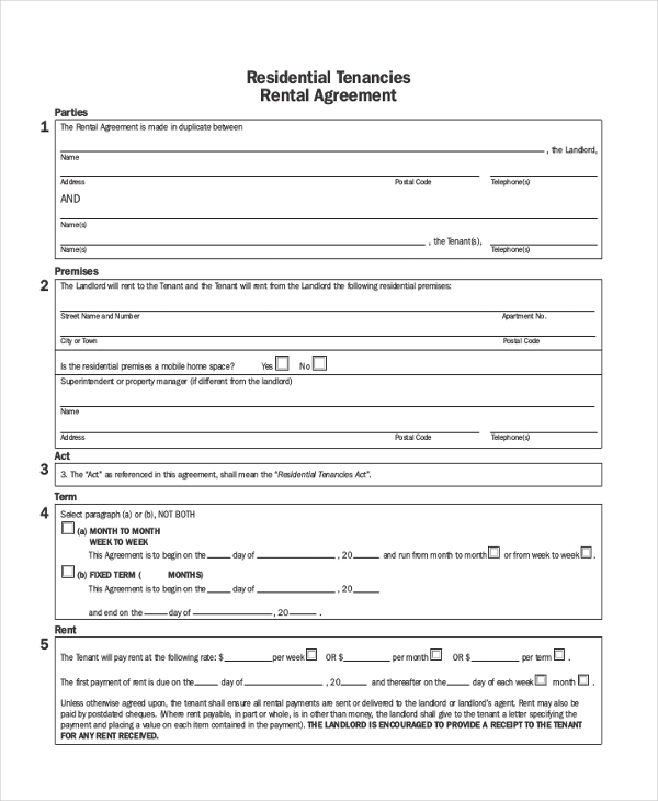 Sample Landlord Agreement Form   Free Documents In Pdf Doc