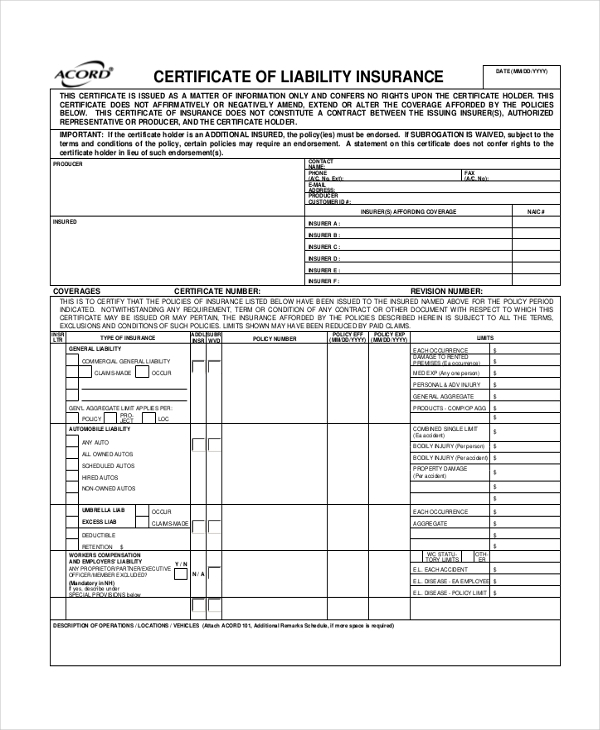 Sample Liability Form - 8+ Free Documents In Pdf
