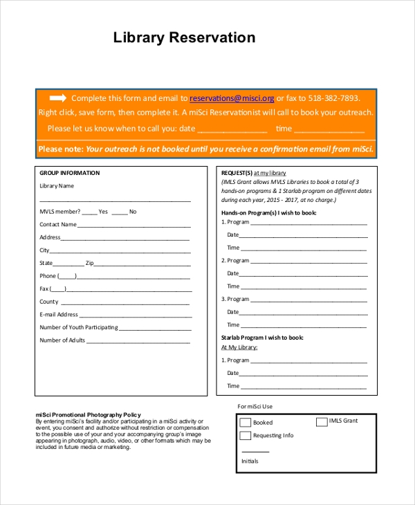 Sample Reservation Forms. Wufoo Blog Online Booking Form Template