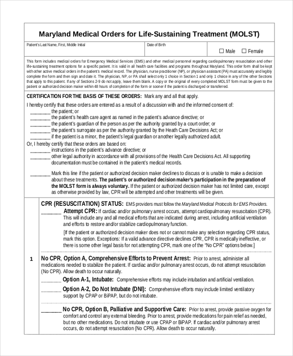 Sample Medical Choice Form - 8+ Free Documents In Pdf
