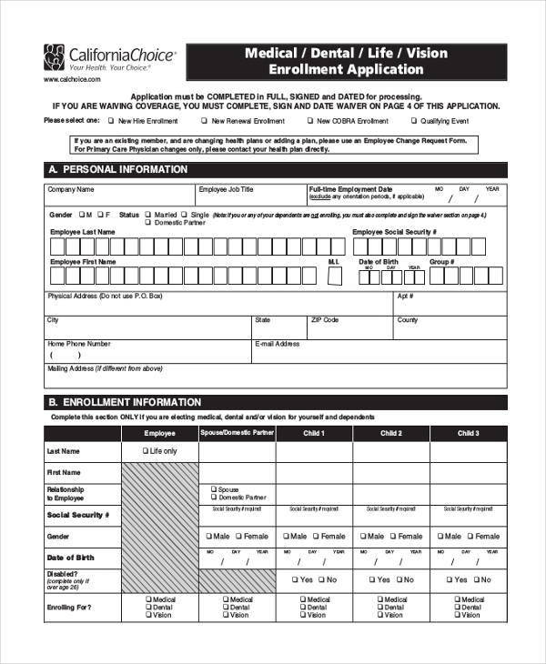 Sample Medical Choice Form 8 Free Documents in PDF – Sample Medical Form