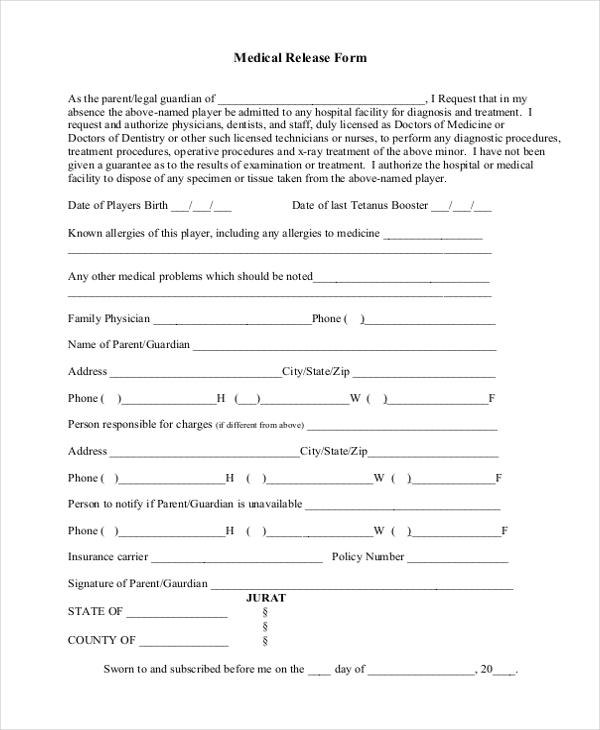 medical release form1