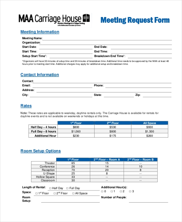 meeting request form1
