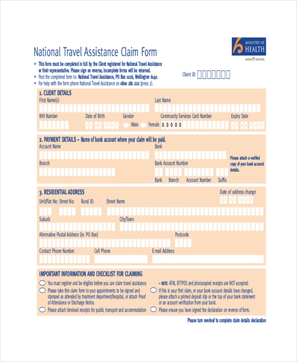 national insurance claim form pdf