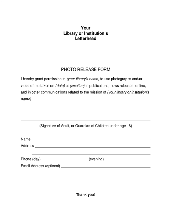 photography picture release form