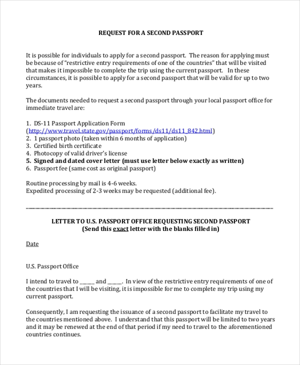 Sample Passport Application Form 11 Free Documents In Word Pdf