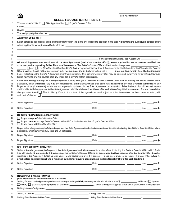 Sample Real Estate Offer Form 7 Free Documents in PDF – Home Purchase Agreement Form Free