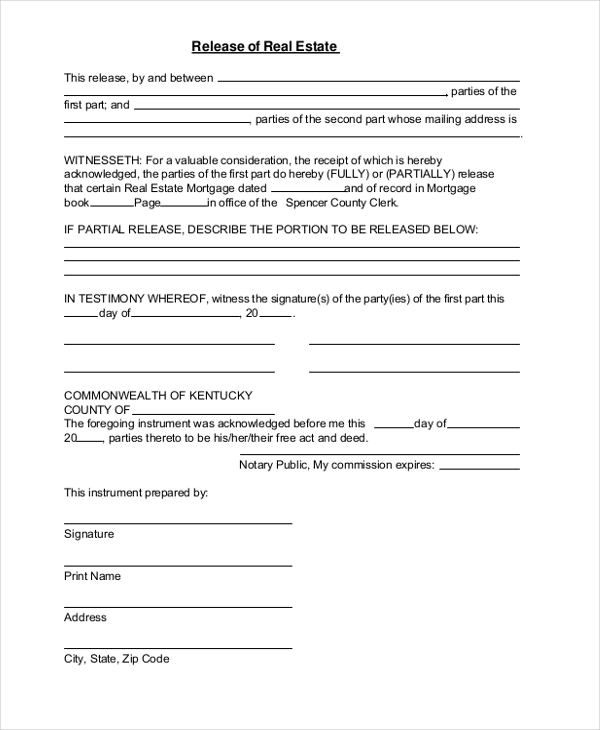 Deed Of Release Form Sample Deed Of Gift Form Pdf Sample Deed Of