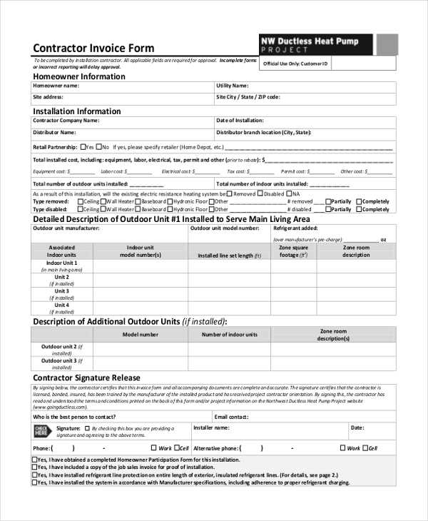 invoice form sample invoice form 10 free documents in pdf