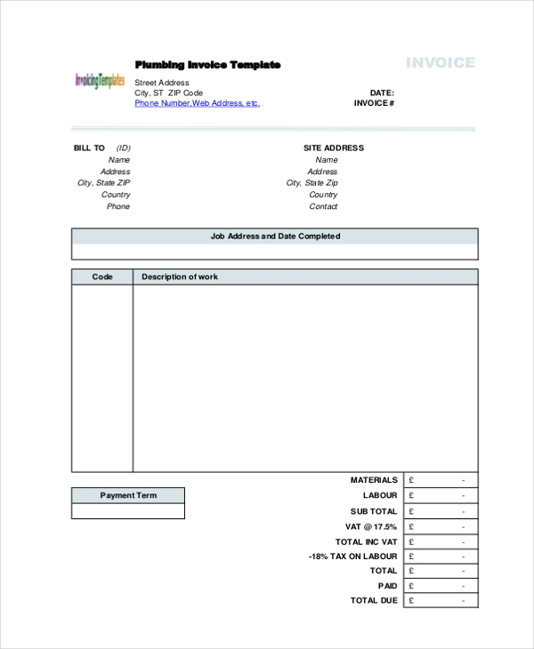 Sample Invoice Form   Free Documents In Pdf