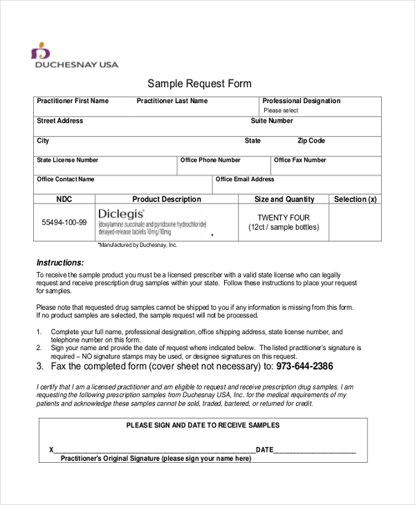 Sample Request Forms  Sample Request Form  Free Documents In