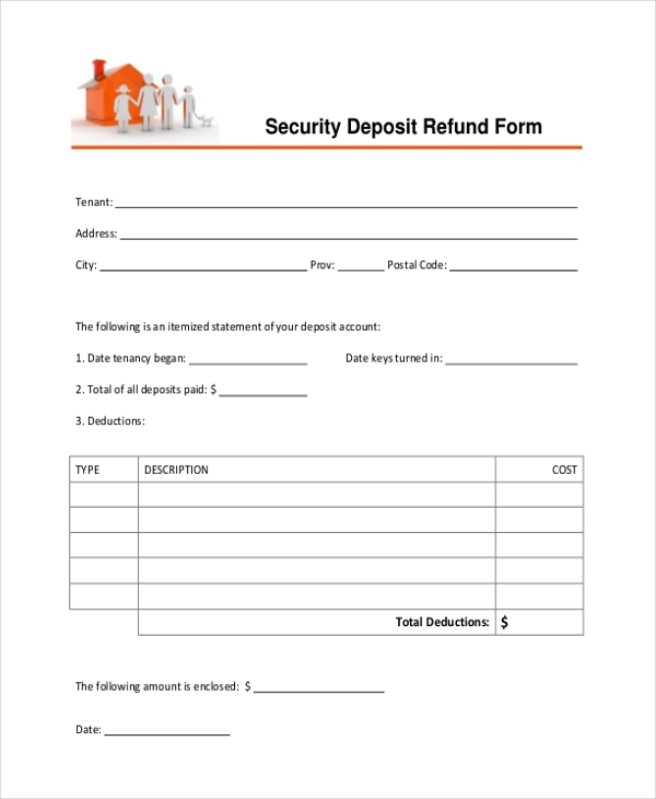 security deposit refund form2