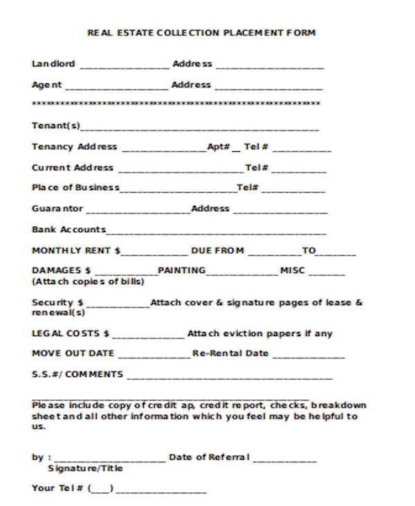 simple real estate form