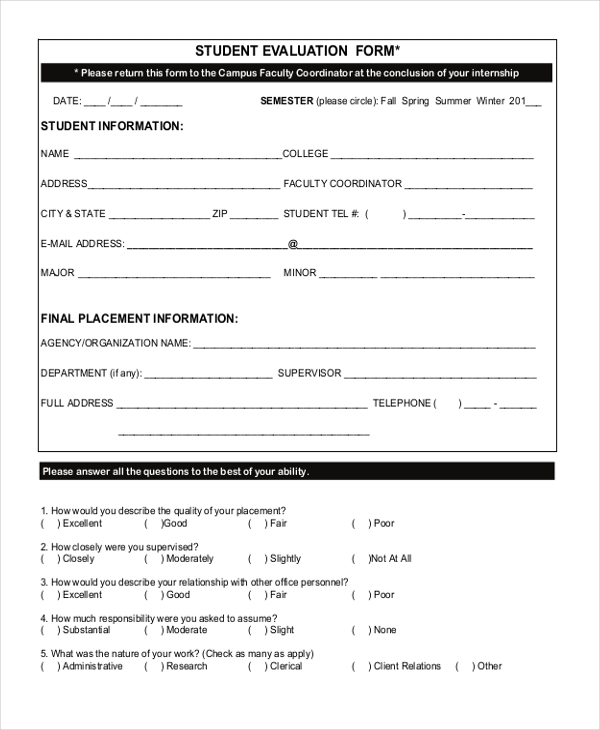 Client evaluation form template 28 images doc 405520 client client evaluation form template client evaluation form fitness pronofoot35fo Images