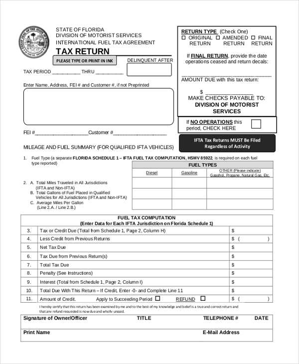 FREE 20+ Sample Tax Forms | PDF