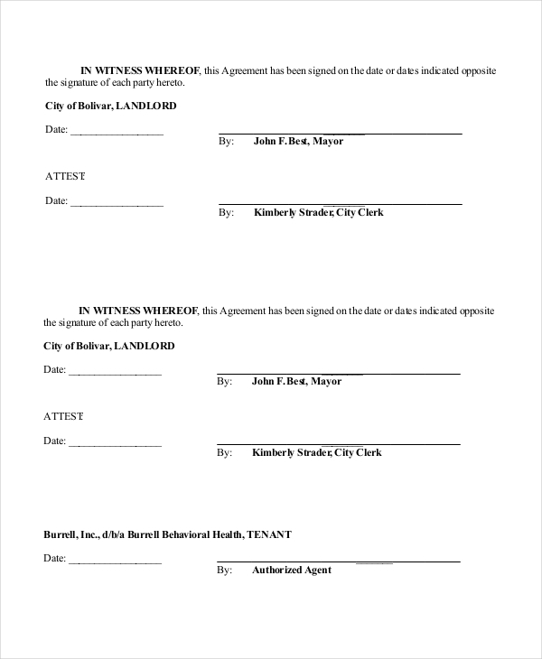 Sample Triple Net Lease Form 6 Free Documents In Pdf