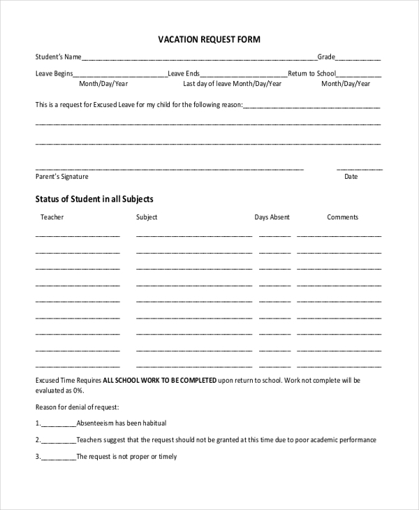 Sample Request Form  Free Documents In Pdf