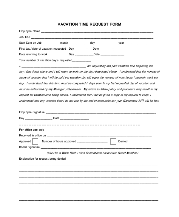vacation tracking of employees