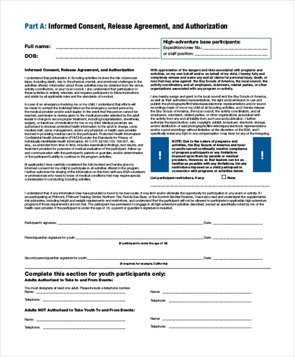 bsa sea base health form