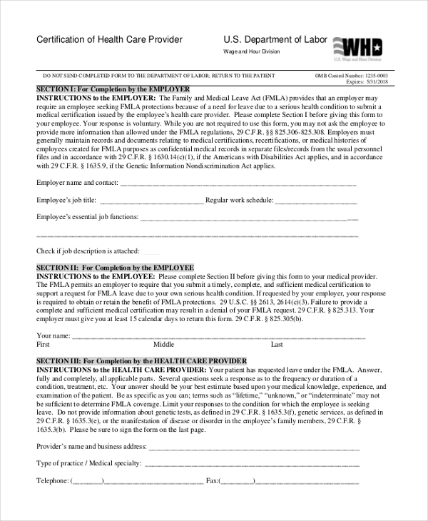 certificate of health insurance form