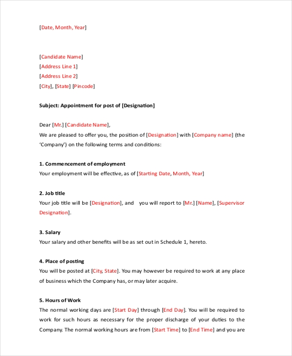 Sample Hr Letter Form - 8+ Free Documents In Word, Pdf