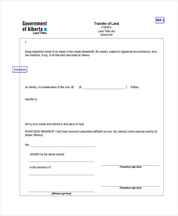 property title transfer form