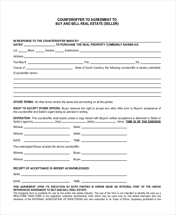 real estate counter offer form1