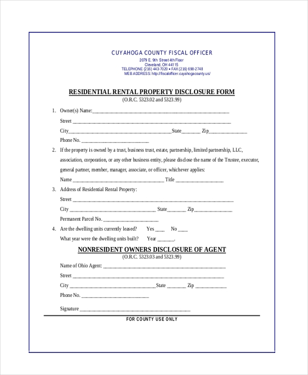 Disclaimer Examples: Sample Real Estate Disclosure Forms