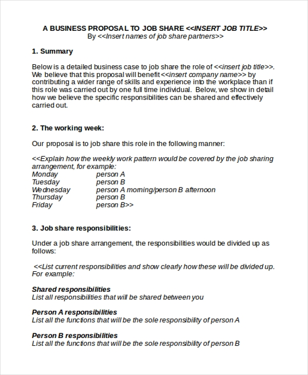 Sample Work Proposal Samples  Proposal  Practical Writing