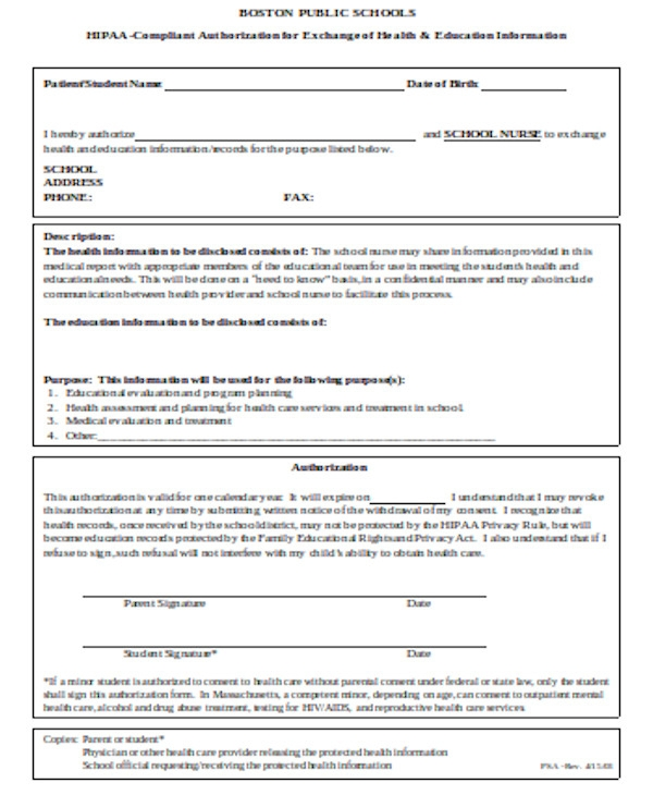 basic hipaa release form