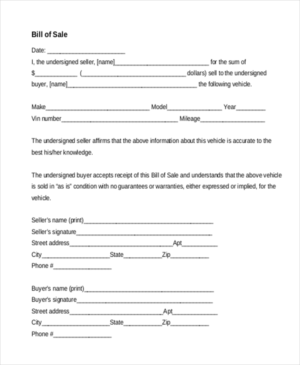 bill of sale form pdf1