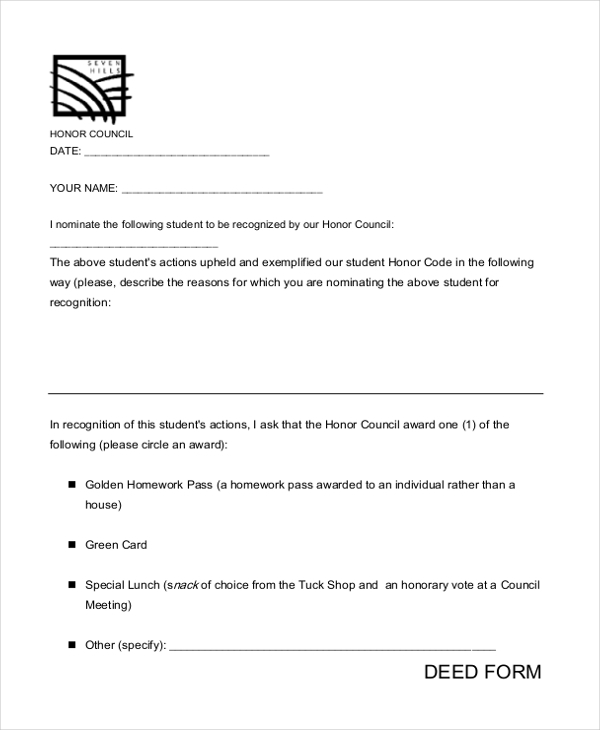 Sample Deed Form - 16+ Free Documents in word, PDF