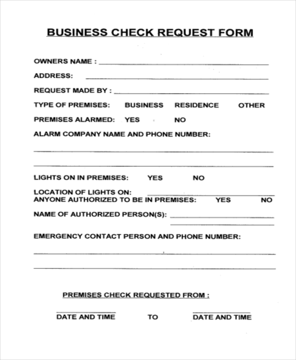 Cheque Request Form