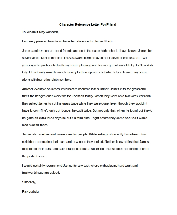 character reference letter for friend1