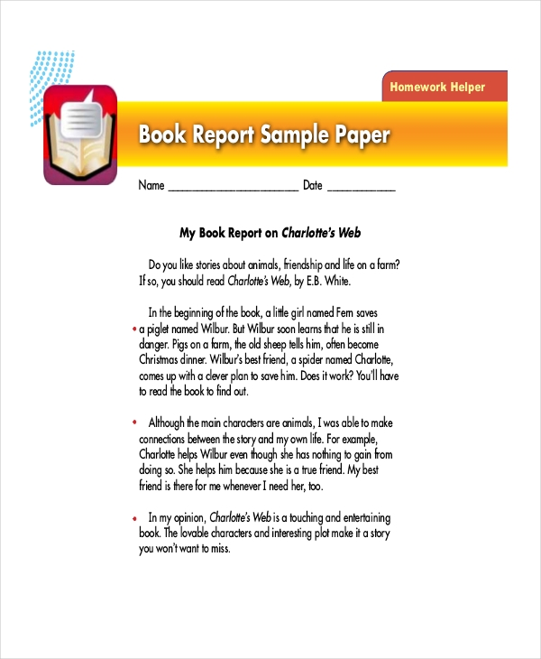 Sample Book Report Format   Free Documents In Pdf Doc