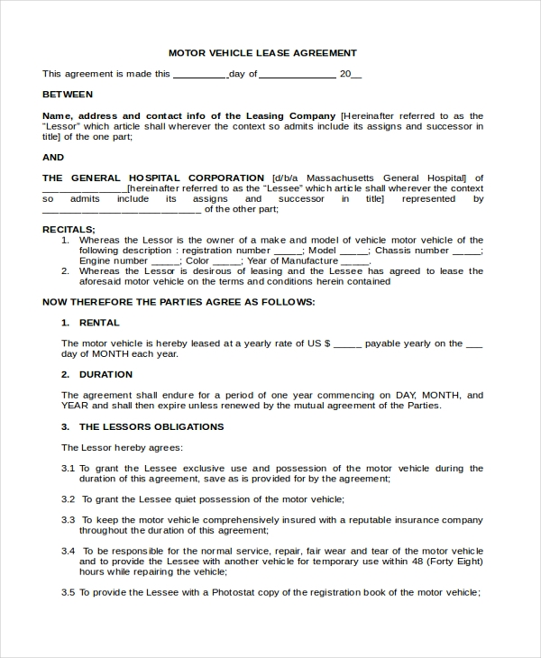Owner Operator Lease Agreement Sample Owner Operator Long
