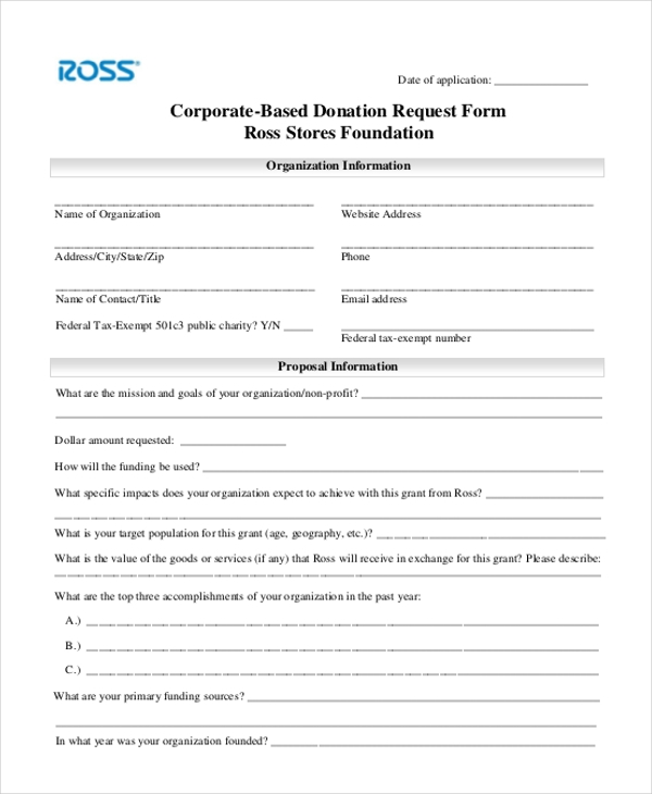 Stunning Sample Donation Request Form Photos  Best Resume