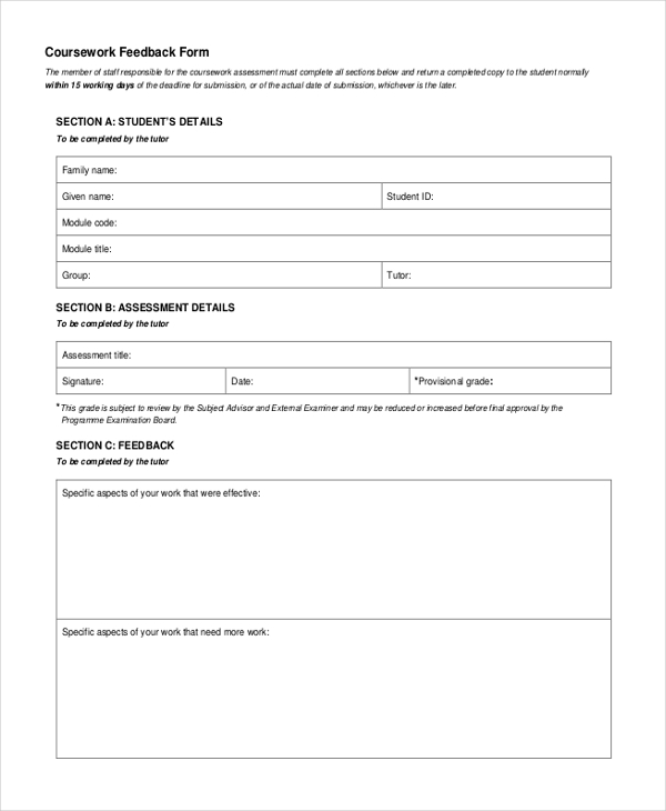 coursework form Extension form please complete this form in block capitals and pass to your director of studies department/school: ¬ full name: student registration number: programme title: programme code: programme stage (if known):, your year of study: units to be considered unit code, unit name circumstances.