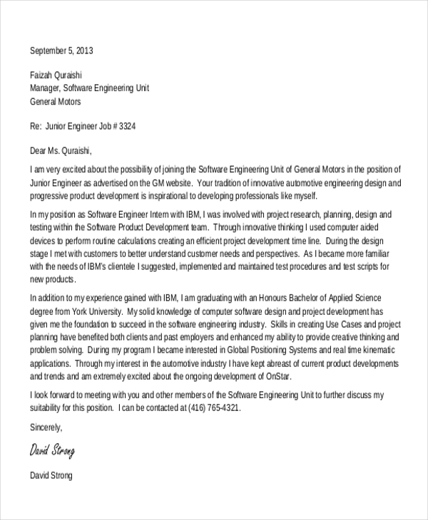 cover letter for summer internship in computer science