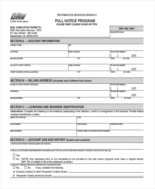 Dmv Application Form Cadmvchangeofaddressform Sample Dmv Change Of