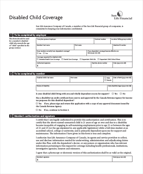 disabled child coverage