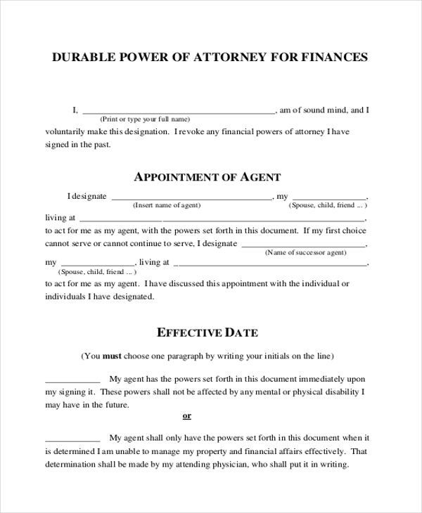 durable financial power of attorney form1