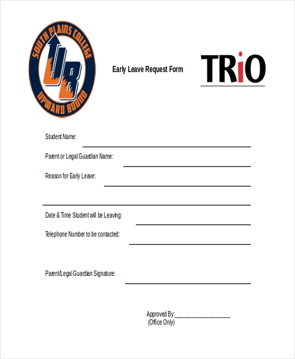 early leave request form