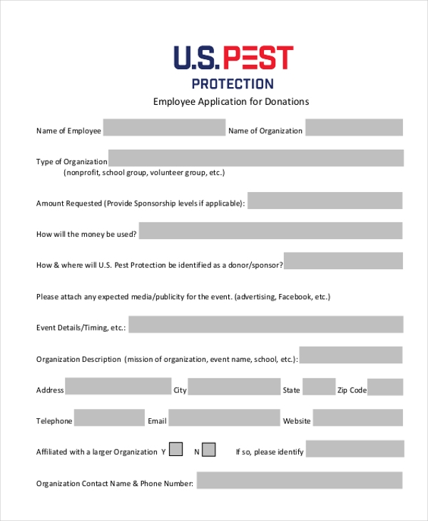 11 Employee Application Form Samples, Examples Format