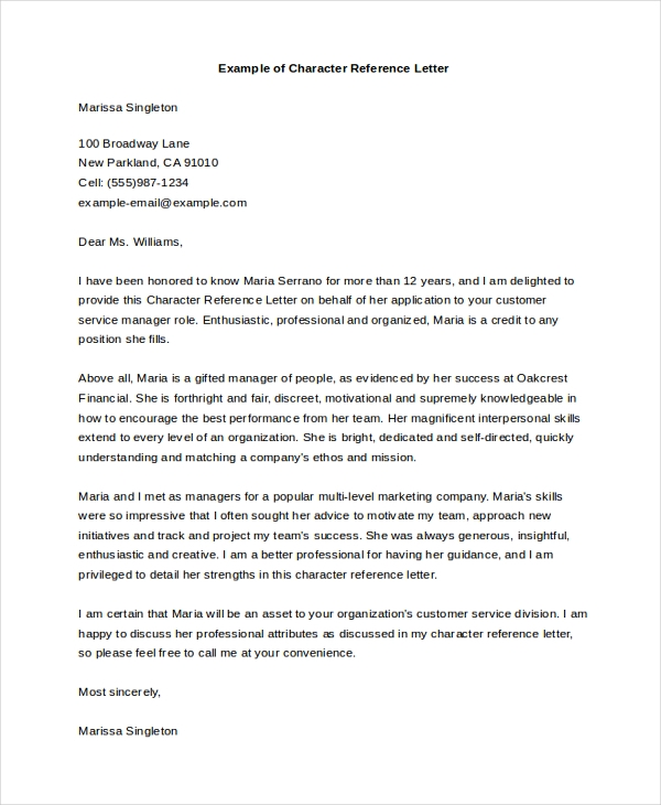 Wallalaf Employment Letter Of Recommendation Sample Letter Of