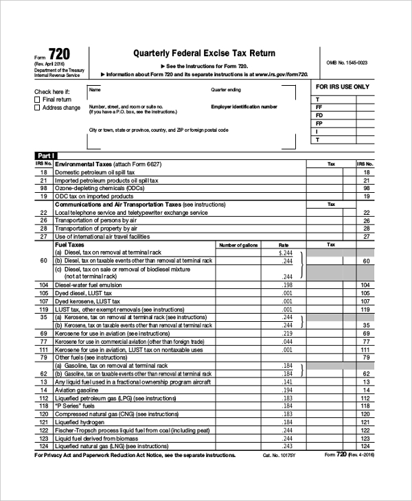 federal quarterly tax form