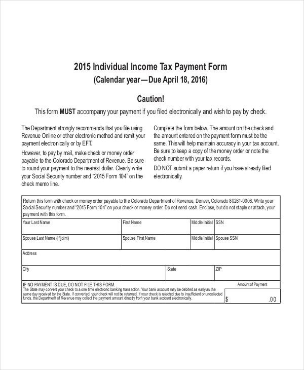 Free 8  Sample Federal Tax Forms